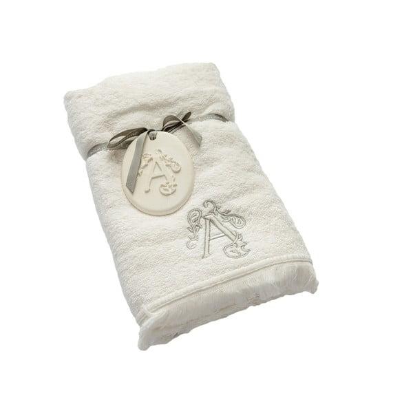 Ręcznik z inicjałem A, 50x90 cm