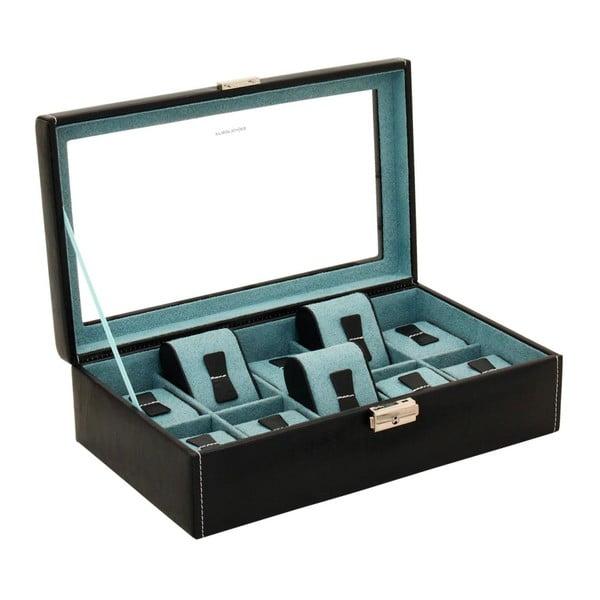 Czarny kuferek na 10 zegarków Friedrich Lederwaren Bond