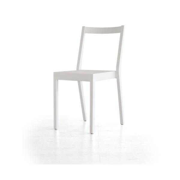 Białe krzesło Kent