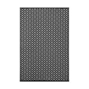 Czarno-biały dwustronny dywan zewnętrzny Green Decore Arabian Nights, 90x150 cm