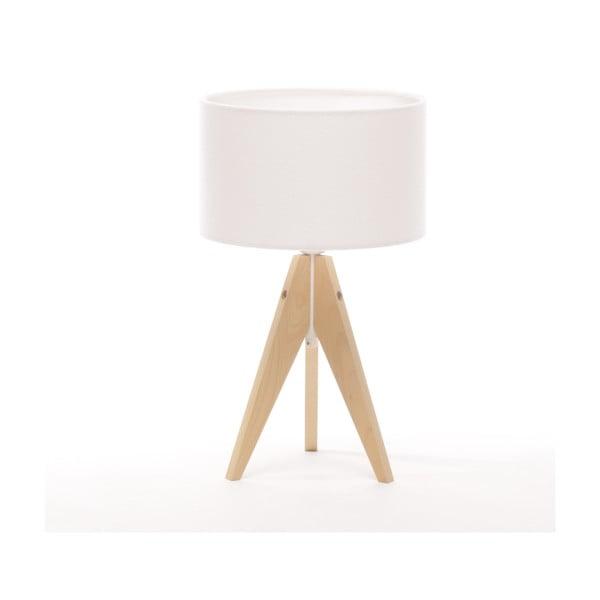 Lampa stołowa Artista Natural Birch/White Felt, 28 cm