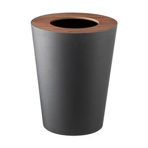 Czarny kosz na śmieci YAMAZAKI Rin Round
