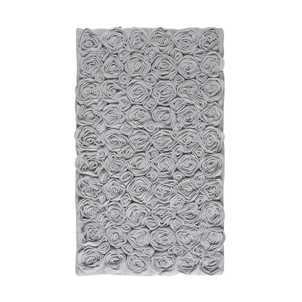 Dywanik łazienkowy Rose 60x100 cm, szary