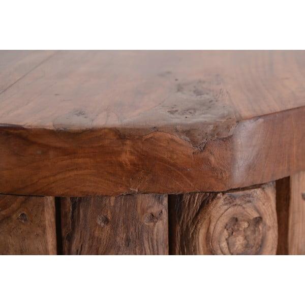 Stołek z drewna tekowego Moycor Flamingo