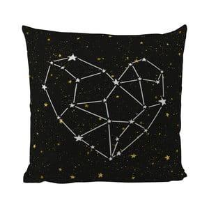 Poduszka Black Shake Star Heart, 50x50 cm