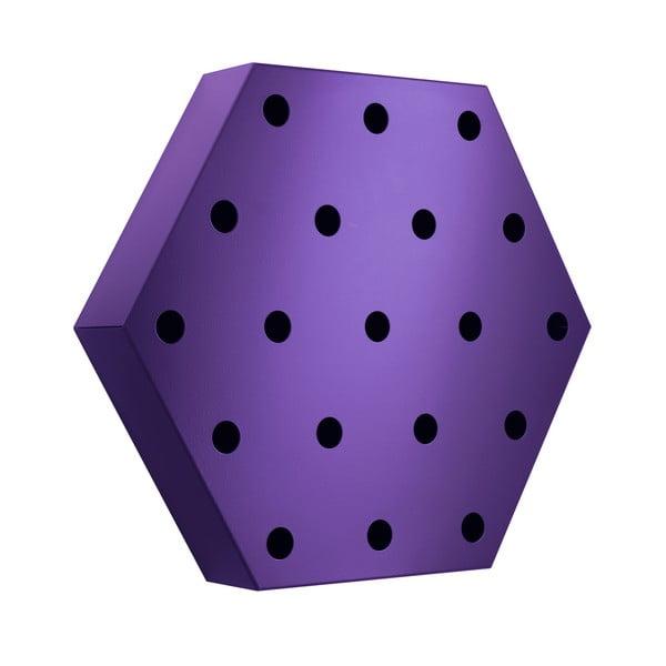 Stojak na wino Hexagon Maxi, fioletowy