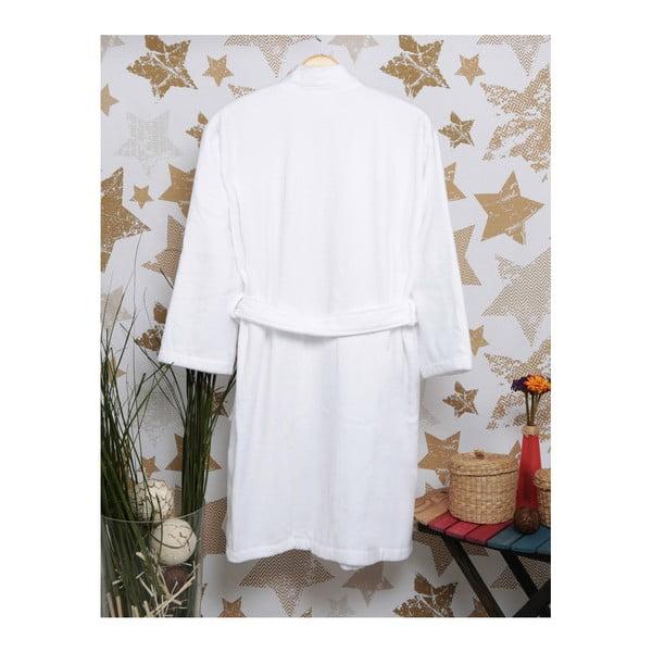 Biały szlafrok Ello, rozmiar XL