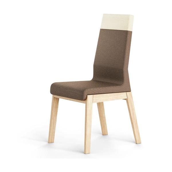 Brązowe krzesło dębowe Absynth Kyla Two