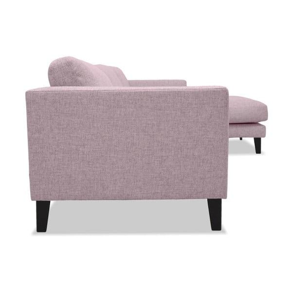 Różowa sofa z szezlongiem po prawej stronie Vivonita Monroe