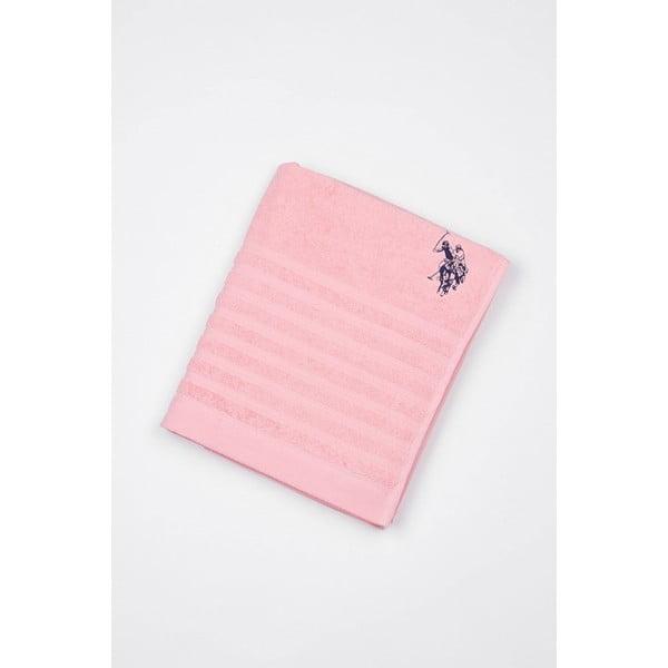 Ręcznik US Polo Bath Pink, 90x150 cm