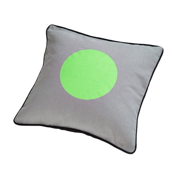 Poduszka z pierza kaczego Dot Grey/Green