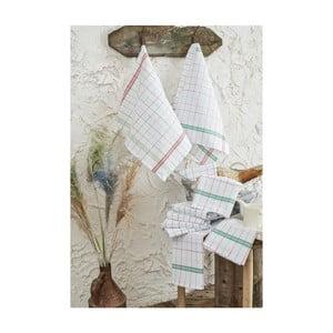 Zestaw 10 bawełnianych ścierek kuchennych Benny, 46x76cm