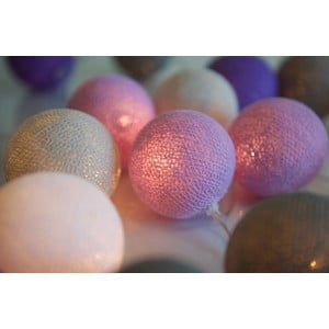 Girlanda świetlna Lavender, 20 lampek