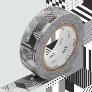 Czarno-biała taśma dekoracyjna washi MT Masking Tape Monochrome
