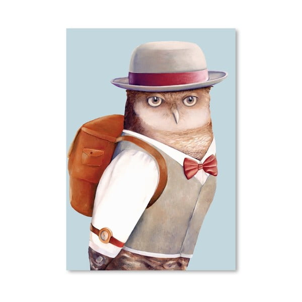 "Plakat ""Owl"", 30x42 cm"