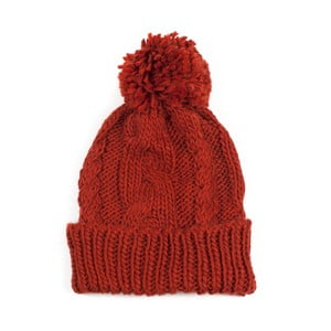 Czerwona czapka z pomponem Jimmy