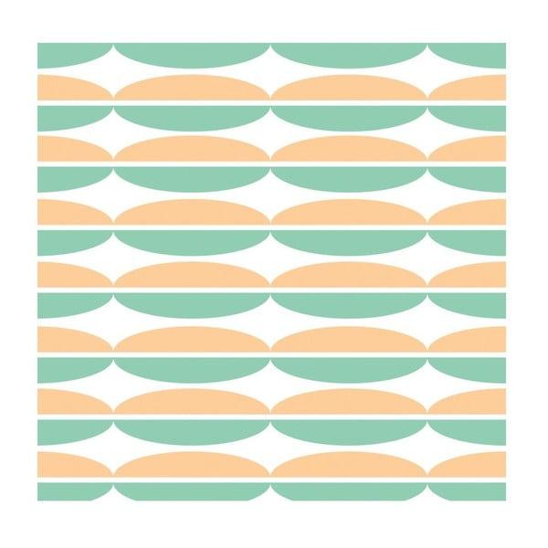 Tapeta Oval Orangegreen
