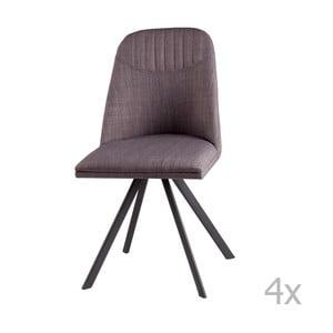 Zestaw 4 jasnoszarych krzeseł obrotowych sømcasa Cris