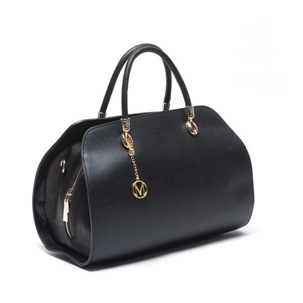 Skórzana torebka Mangotti 415, czarna