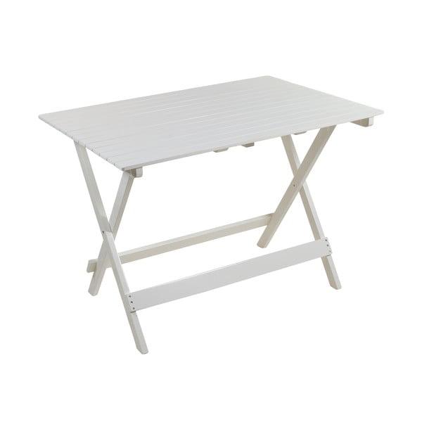 Zestaw 2 białych krzeseł i stołu z drewna topoli Santiago Pons