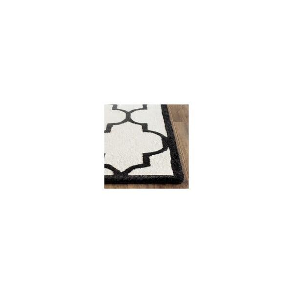 Wełniany dywan Everly 152x243 cm, biały/czarny
