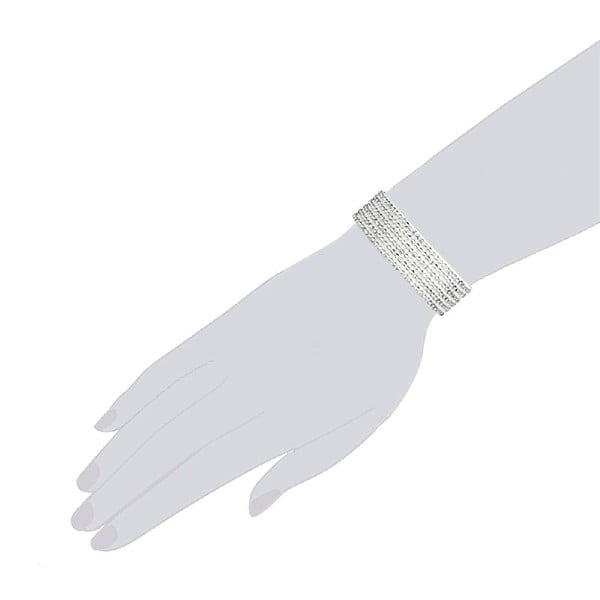 Bransoletka Simply White, 21 cm