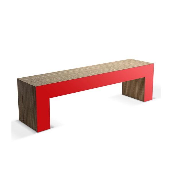 Kartonowa ławka Panca Red, 160 cm
