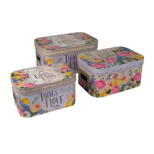 Zestaw 3 pudełek Weathered Vintage