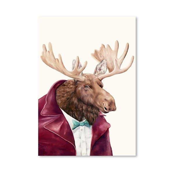 "Plakat ""Moose"", 30x42 cm"