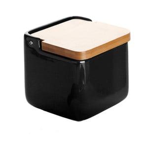 Ceramiczny pojemnik na sól Versa Black Salt Box