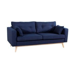 Ciemnoniebieska sofa trzyosobowa Max Winzer Tomme