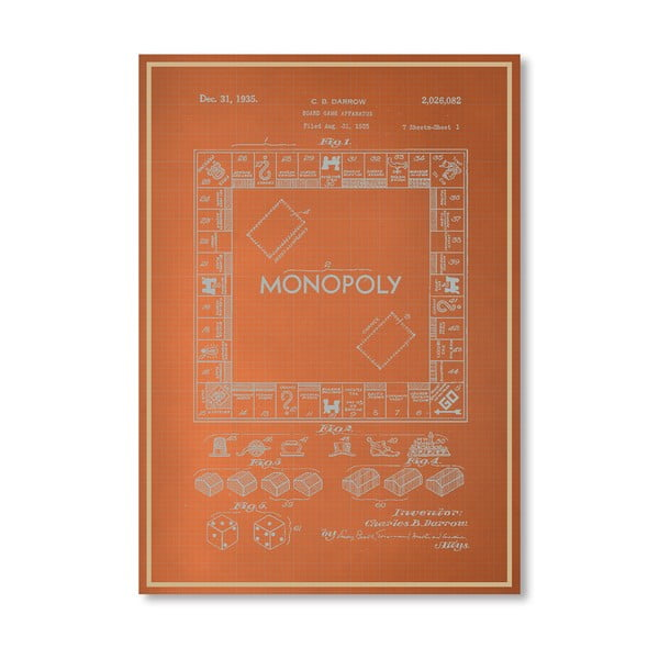 Plakat Darrow Monopoly, 30x42 cm
