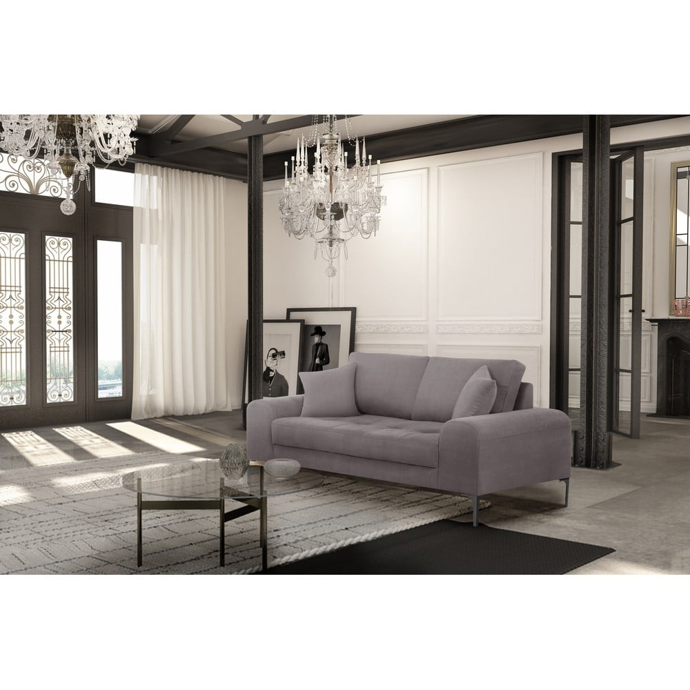 srebrna sofa 2 osobowa corinne cobson dillinger bonami. Black Bedroom Furniture Sets. Home Design Ideas