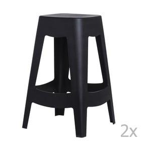 Zestaw 2 stołków barowych D2 Tower, czarne