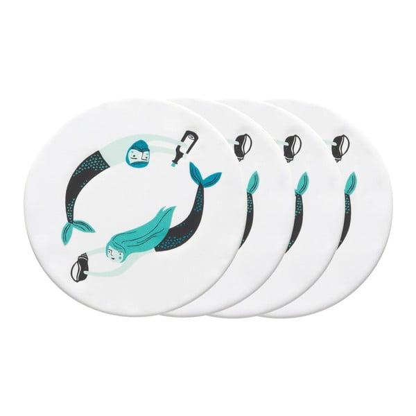 Zestaw 4 ceramicznych podkładek Danica Sea Spell