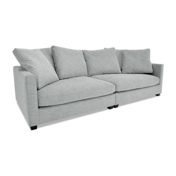 Srebrna sofa trzyosobowa VIVONITA Hugo