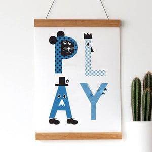 Plakat Play Blue, 30x40 cm