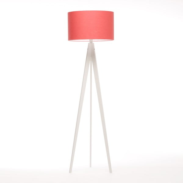 Lampa stojąca Artist Coral Red Linnen/White Birch, 125x42 cm