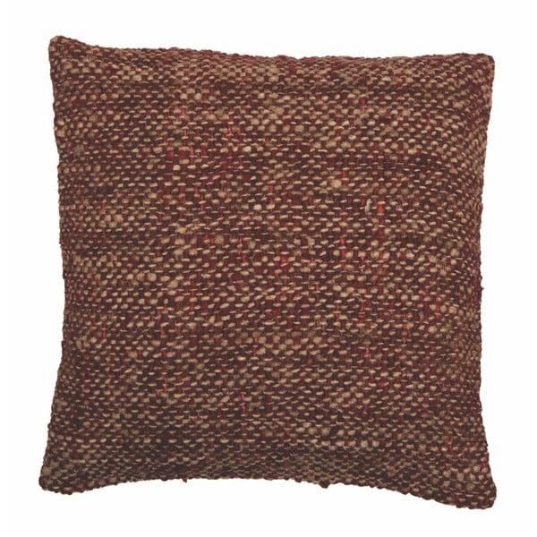 Czerwona poduszka ZicZac Chambray, 45x45 cm