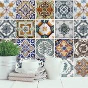 Zestaw 4 naklejek na ścianę WALPLUS Śródziemnomorska mozaika
