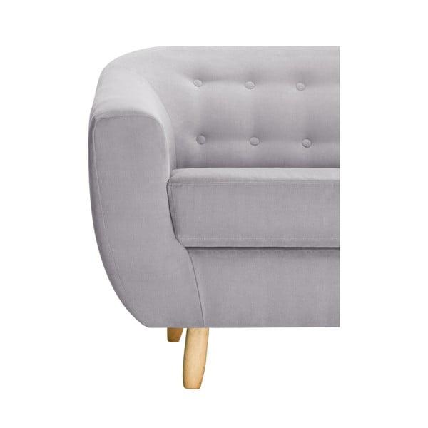 Jasnoszara sofa trzyosobowa Jalouse Maison Vicky