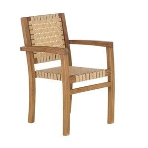 Kremowe krzesło ogrodowe z drewna tekowego z recyklingu SOB Garden