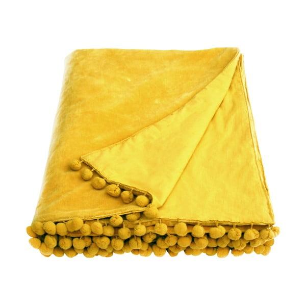 Żółta narzuta Ragged Rose Belinda Velvet