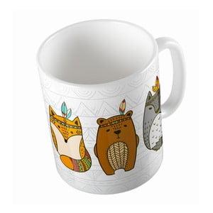 Ceramiczny kubek Indian Animals, 330 ml