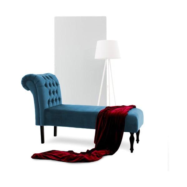 Niebieski szezlong Vivonita Nellie