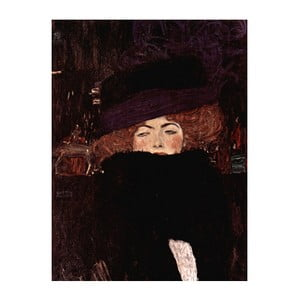 Reprodukcja obrazu Gustava Klimta - Lady with Hat And Feather Boa, 70x50 cm