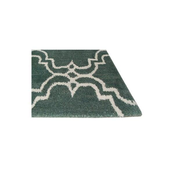 Zielony dywan wełniany Bakero Riviera, 122x183cm