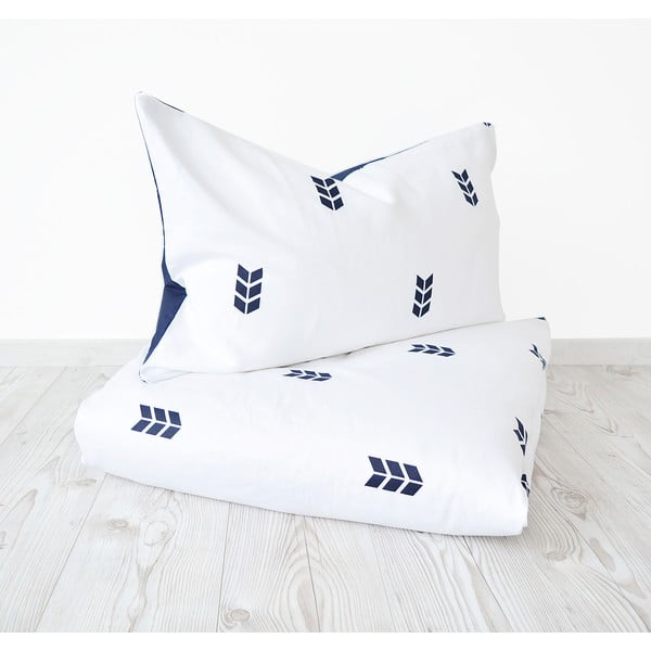 Biała pościel Hawke&Thorn Finch Straw, 150 x 200 cm + poduszka 50 x 60 cm