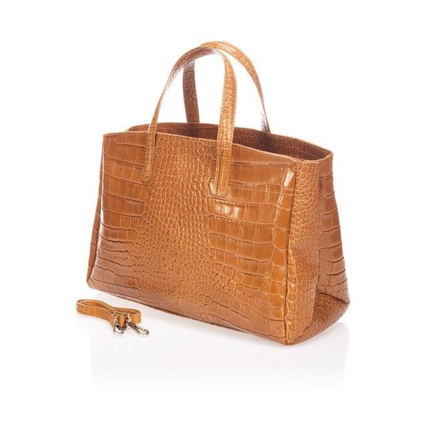 Skórzana torebka Magnata, koniakowa