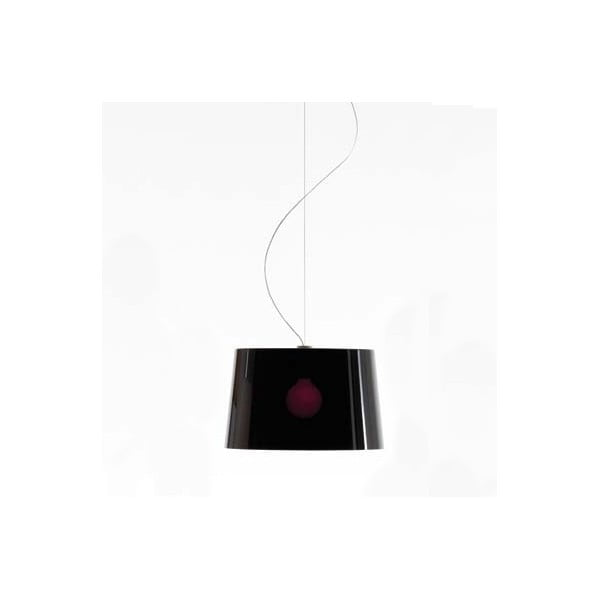 Czarna lampa wisząca Pedrali L001S/B